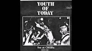 "YOUTH OF TODAY - Summer 1986 (7"" Bootleg Live at CBGBs)"
