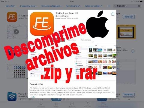 Video FileExplorer archivos .zip y .rar iOS para iPad -iPhone -iPod GRATIS