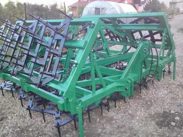 Budowa bron,agregat uprawowy składany hydraulicznie Dzierzgoń SAMPOL-BIS