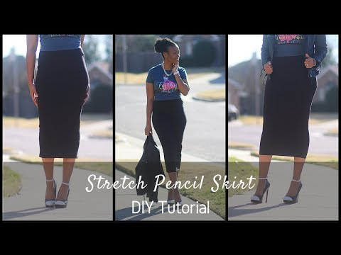 Download DIY Stretch Pencil Skirt Block With Flat Elastic Waistband Tutorial HD Mp4 3GP Video and MP3