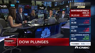 Dow plunges again, down more than 900 points