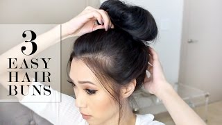 3 Easy Bun Hairstyles | LeSassafras