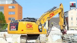 **NEW** CATERPILLAR 336F LN Demolition Site / Abbruch Parkhaus Göppingen, 2018.