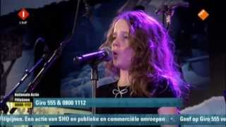 Amira Willighagen - Singing for Victims of Typhoon Philippines - 18/11/2013