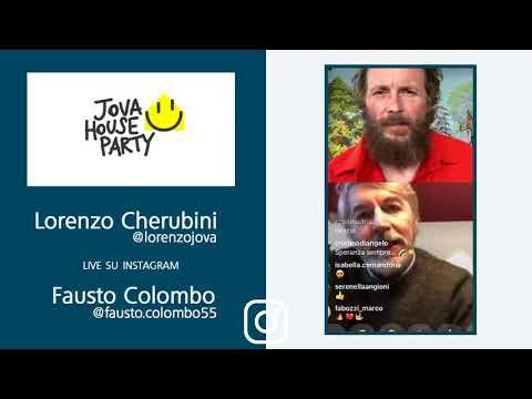 Il prof Fausto Colombo al Jova House Party