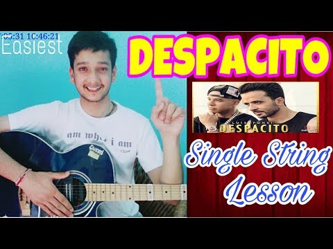 DESPACITO-Single String🙋Guitar Tabs Lesson |Easiest Guitar Lessons For Beginners Mp3