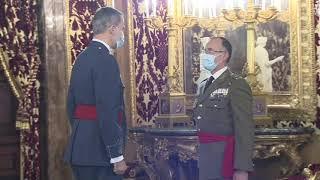 Audiencia a un grupo de generales de División y vicealmirante