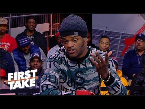 Lamar Jackson on First Take
