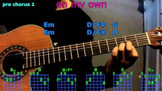 On My Own Ross Lynch Guitar Chords