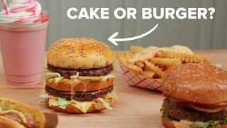 Making A Prank Burger Cake