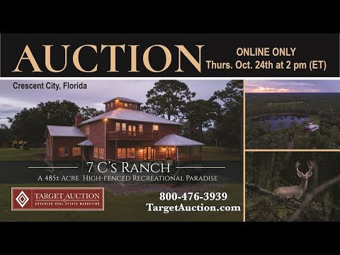 AUCTION: 7 C's Ranch & Lodge: 485± Acres, A High-Fenced Recreational Paradisers in Crescent City, FL