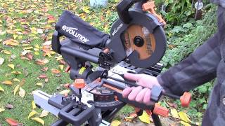 Evolution R210SMS+ sliding mitre saw review, first impressions and test run!