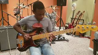 Playing some Hysteria on Bass