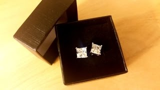 Luvami 18k White Gold CZ Princess Cut Stud Earrings *UNBOXING & REVIEW!*