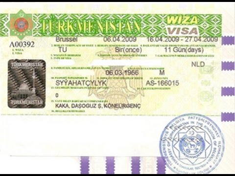 Виза в Туркменистан для граждан России. Виза в Туркменистан