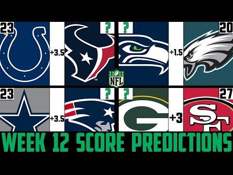 NFL Week 12 Score Predictions 2019 (NFL WEEK 12 PICKS AGAINST THE SPREAD 2019)