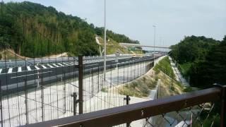 新名神高速道路四日市JCT~新四日市JCT開通の瞬間2016年8/11撮影