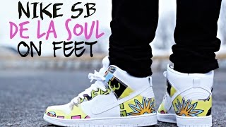 "Nike SB Dunk High ""De La Soul"" On Feet"