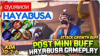 Post Mini Buff Hayabusa Gameplay [ Ayurinon Hayabusa ] αуυяιиσи Hayabusa Mobile Legends