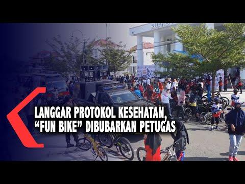 ribuan peserta sepeda santai di palopo dibubarkan satgas covid