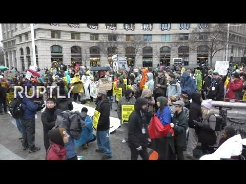 LIVE: Protesters rally against Trump's inauguration in Washington D.C.