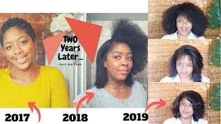 Two Year Post Big Chop + Rice Water Update Q&A | Start-To-Finish Blowout, Trim & Silk Press