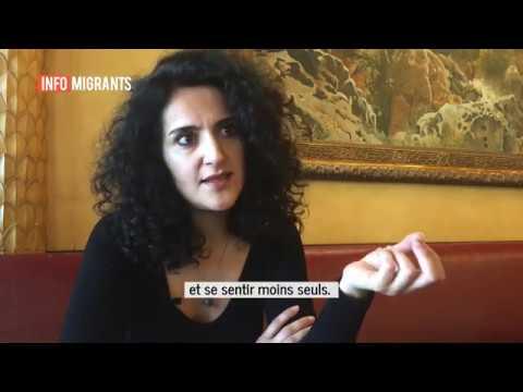 """Maryam Madjidi, auteure de """"Je m'appelle Maryam"""", paru aux éditions l'École des loisirs. Crédit : InfoMigrants"""