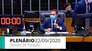 Plenário - Sessão para a votação de propostas legislativas - 22/09/2020 13:55