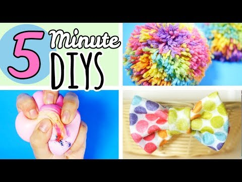 5 Minute Crafts To Do When You're Bored   Easy DIYS