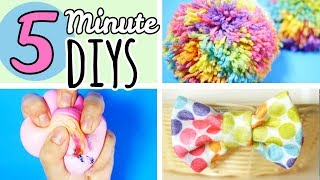 5 Minute Crafts To Do When You're Bored | Easy DIYS