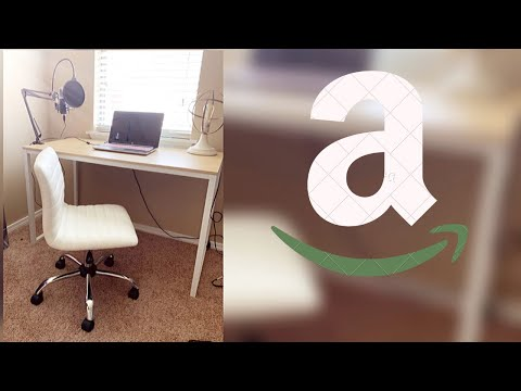 CHEAP HIGH QUALITY WHITE DESK AND DESK CHAIR FROM AMAZON!! | @MEEKFRO