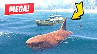 GTA 5 - Hunting a Megalodon Shark!!