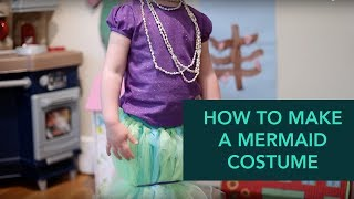 How To Make A Mermaid Costume - Easy DIY Halloween | Care.com