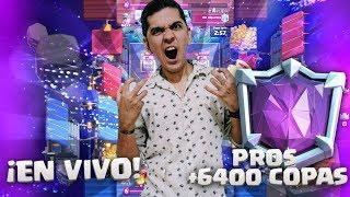 POMPEYO Y FULL PRO PLAYERS 6400+ LADDER !!! CLASH ROYALE ! 😱