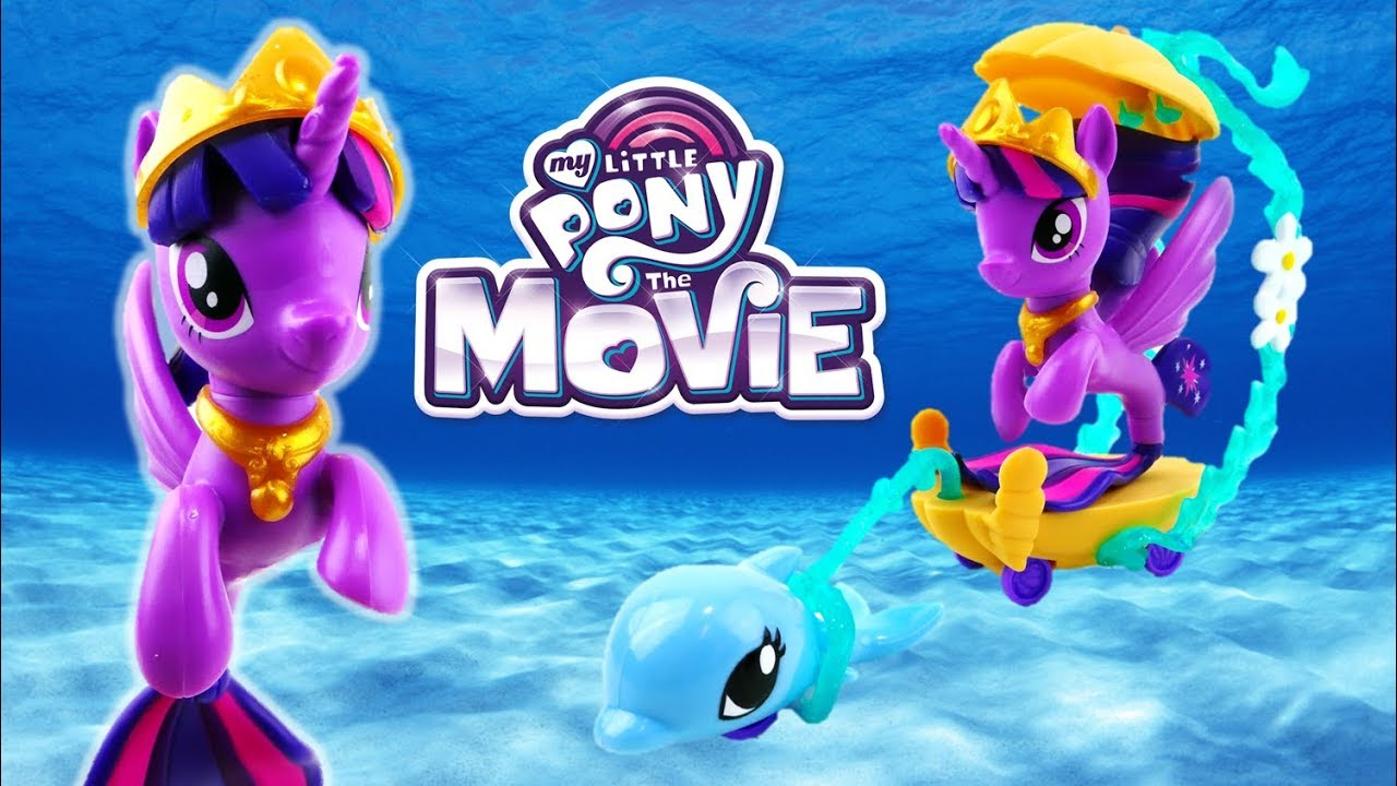 My Little Pony Movie 2017 Toys Twilight Sparkle Undersea Carriage Seapony Playset
