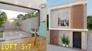 Plano De Loft De 5x7 Metros | Planos De Casas Pequeñas