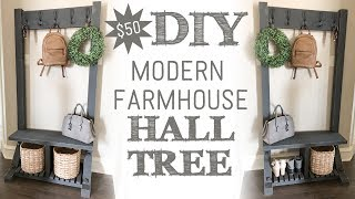 Modern Farmhouse Hall Tree