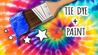 Painting ON Tie Dye