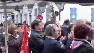 preview picture of video 'Manifestation CGT contre la fermeture de la boutique SNCF à Draguignan'