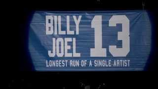 Billy Joel Honored With Banner At MSG (January 9, 2015) Video