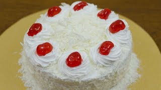EGGLESS WHITE FOREST CAKE RECIPE I WITHOUT OVEN