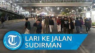 Kocar Kacir, Massa Aksi Lari ke Jalan Jenderal Sudirman