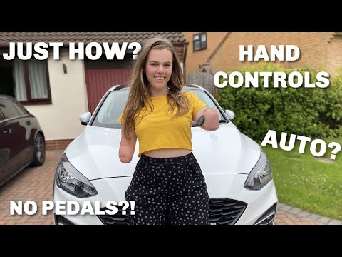 INNOVATION: QUAD AMPUTEE WOMAN SHOWS OFF CAR!