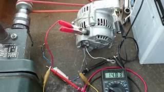 オルタネーターを水力発電機として配線