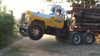 Mack Truck Does Wheelie
