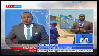 NewsDesk: President Uhuru opens the second phase of the SGR project in Kajiado county 19/10/2016