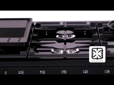 Rangemaster Range Cooker Dual Fuel NEX90DFFBL-C - Black / Chrome Video 1