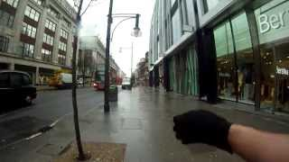 London walking tours. First person view video with map.
