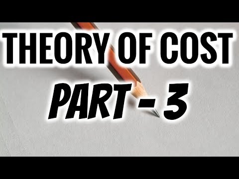 THEORY OF COST IN ECONOMICS | PART 3
