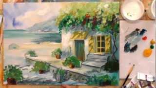 Смотреть онлайн Как рисовать картину акриловыми красками